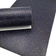 SMOOTH CONSTELLATIONS Faux Leather Sheets, Custom Leather for Earrings and Hair bows, Craftyrific Exclusive Design