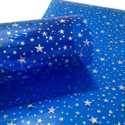 STAR JELLY SHEETS - Royal Blue Jelly Material, Waterproof Jelly Sheets for Hair Bows - 769
