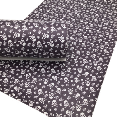 SKULLS Faux Leather Sheets, Fall Custom Faux Leather, Leather Sheets, Leather for Earrings - 1883