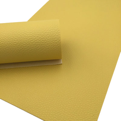 PALE YELLOW Faux Leather Sheet, PU Leather, Leather for Earrings - 80