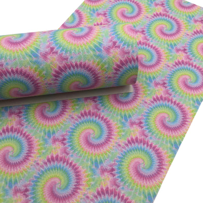 Tie Dye Faux Leather Sheets, Leather for Earrings, Hair Bow Material - 1607