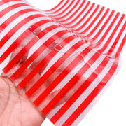 RED STRIPES Jelly Sheets, Custom Print Jelly Material, Waterproof Jelly Sheets for Hair Bows