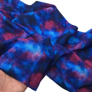 GALAXY TIE DYE Liverpool Fabric Half Yard or Full Yard, 4 Way Stretch Fabric, Bullet Fabric, Liverpool Fabric for Bows