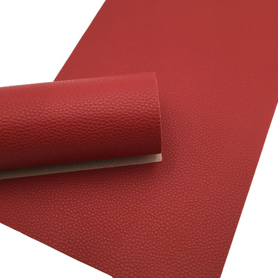 CRIMSOM RED Faux Leather Sheet, PU Leather, Leather for Earrings - 0169