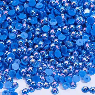 4mm ABS Royal Blue Plastic Imitation Pearl Cabochon in a Container (15grams-400pcs Aproxx.)
