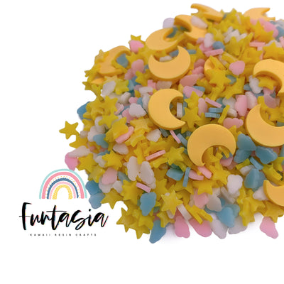 Sweet Dreams Mix Polymer Clay Slices, Fake Sprinkles, Clay Slices for Nail Art and Slime