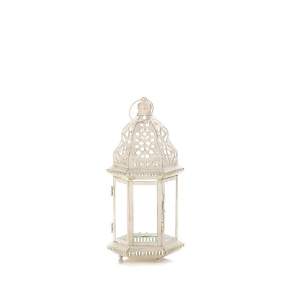 SUBLIME DISTRESSED WHITE LANTERN