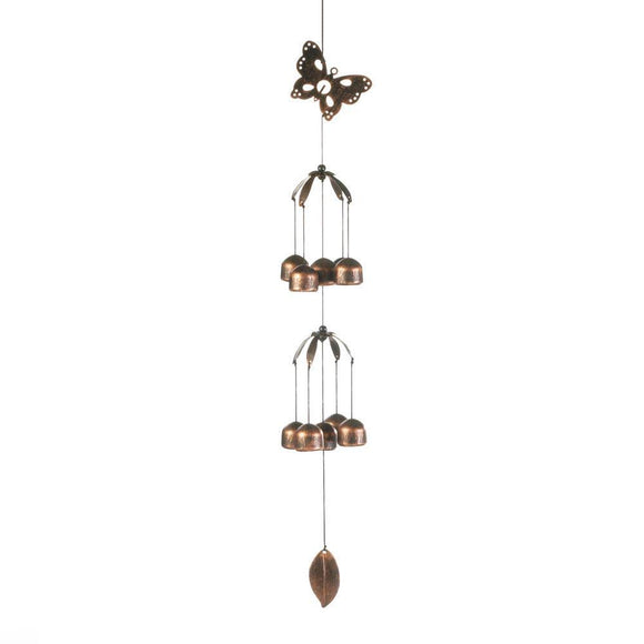 BUTTERFLY DOUBLE TIER BELL CHIMES