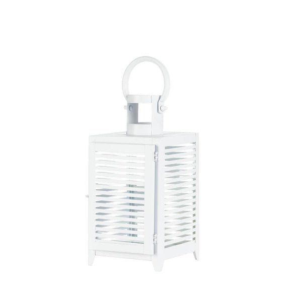 MEDIUM WHITE HORIZON LANTERN