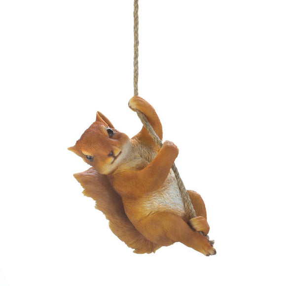 HANGING SQUIRREL DECOR
