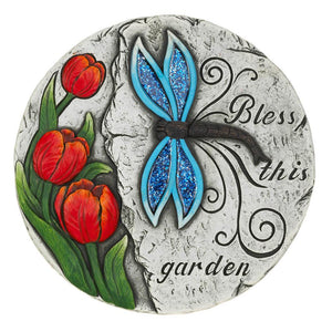 BLESS THIS GARDEN STEPPING STONE