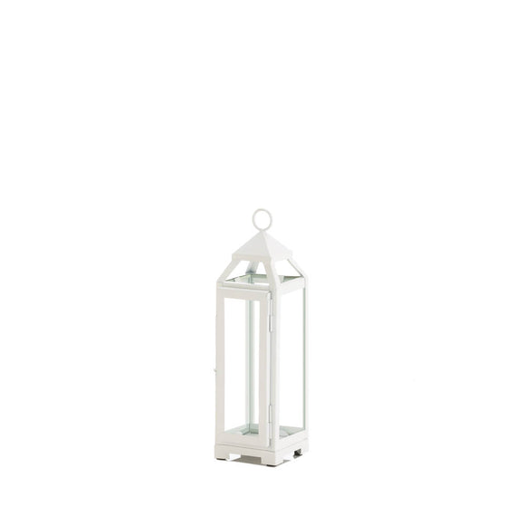 SMALL COUNTRY WHITE OPEN TOP LANTERN
