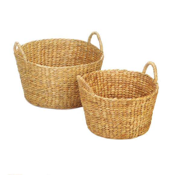 ROUND WICKER BASKET DUO