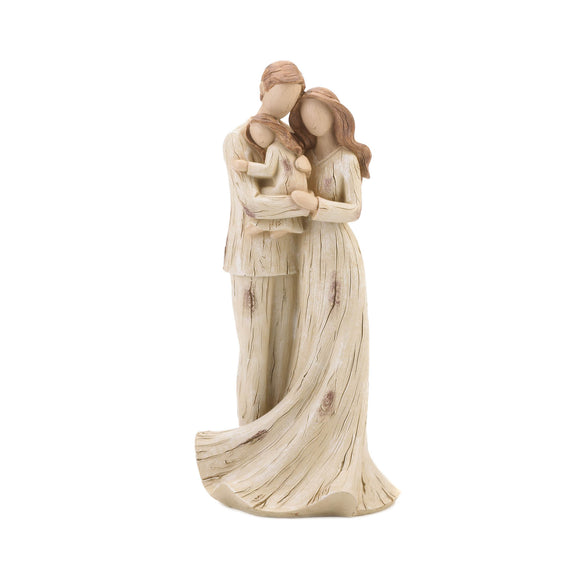 Girl and Family Figurine