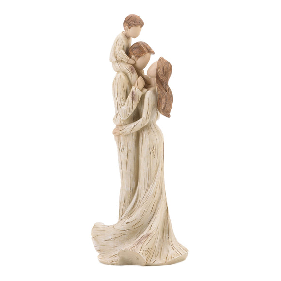 Boy and Family Figurine