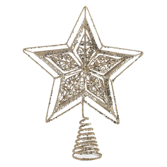 GOLD STAR TREE TOPPER