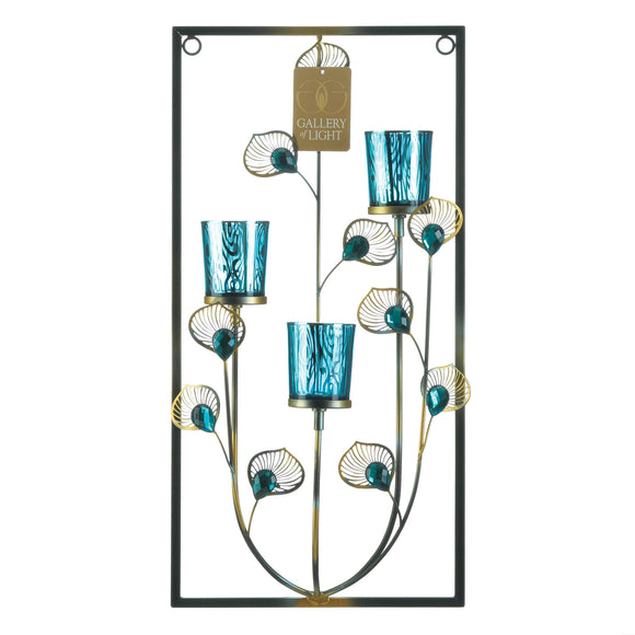 3 Peacock Wall Sconce
