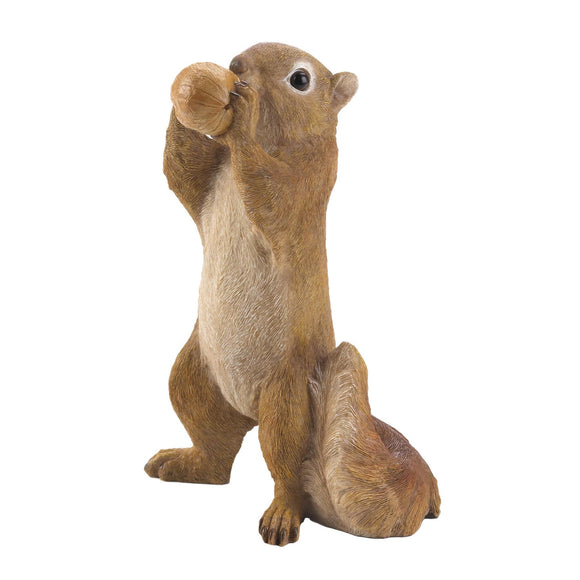 EATING WALNUT SQUIRREL FIGURINE