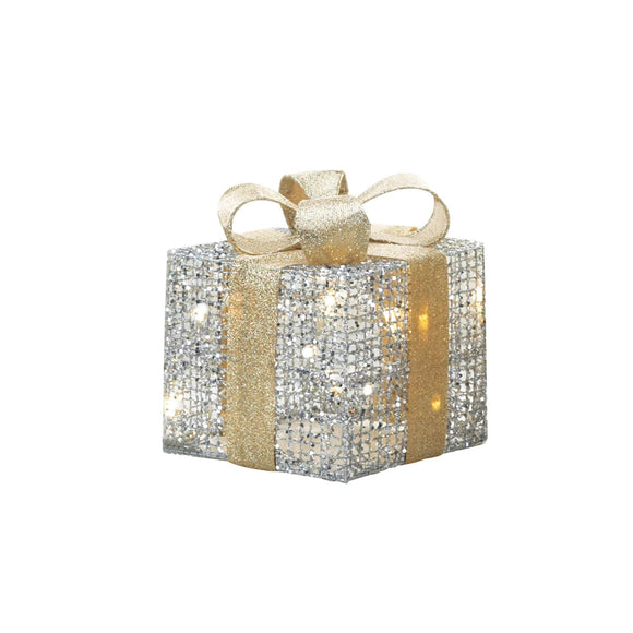 LARGE LIGHT UP GIFT BOX DECOR