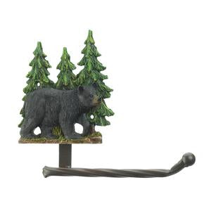 Black Bear w/Pine Trees Toilet Paper Holder