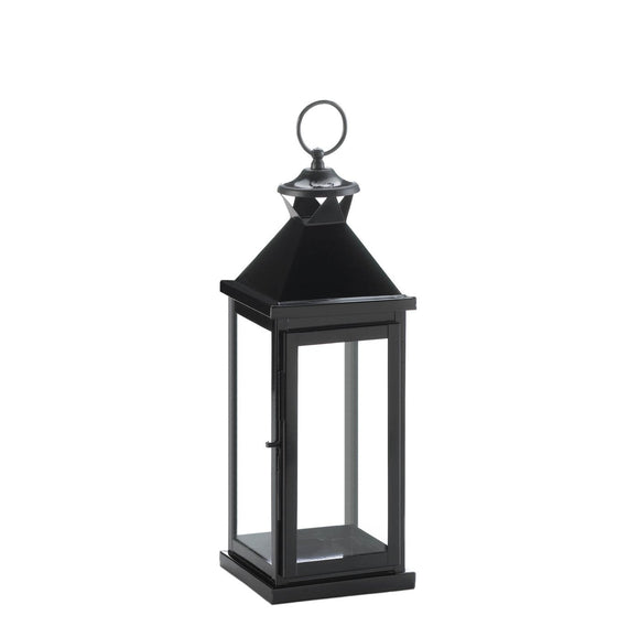Medium Glossy Black Lantern