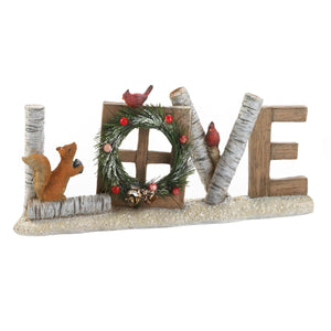 """LOVE"" Christmas Decorative Sign"