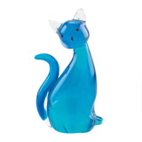Blue Kitty Art Glass