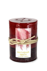 MACINTOSH APPLE PILLAR CANDLE 3X4