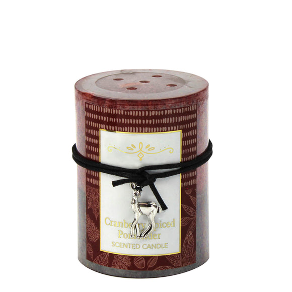 CRANBERRY SPICED POMANDER SCENTED CANDLE 3X4