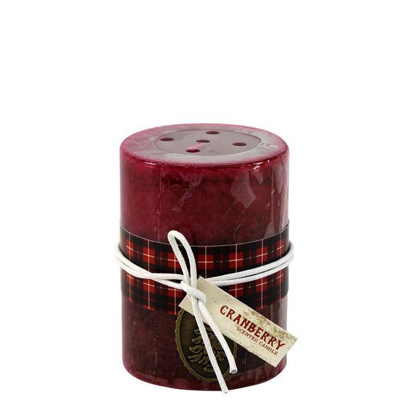 HOLIDAY CRANBERRY SCENTED CANDLE 3X4