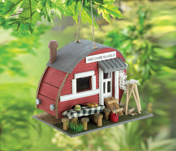 Vintage trailer Bird House