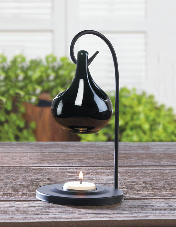 Black Teardrop Oil Warmer