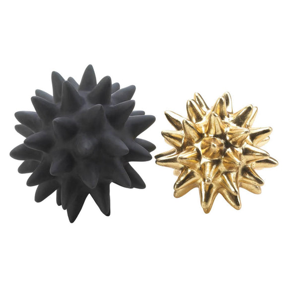 Storico Black and Gold Spike Sculptures