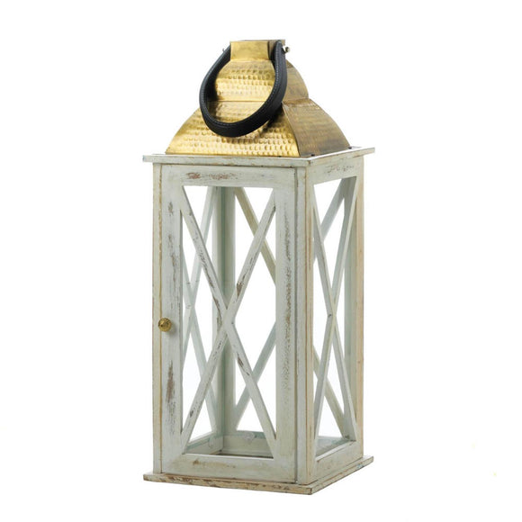 Savannah Large White Lantern