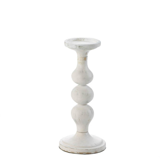 Carmona White Artisan Candle Holder