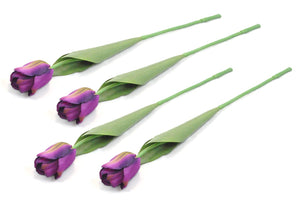 Flower Tulip Purple Set of 4