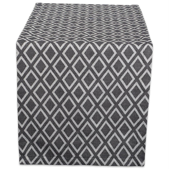 Black & White Diamond Table Runner 14