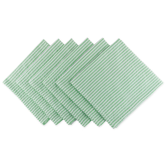 Bright Green Seersucker Napkin Set of 6