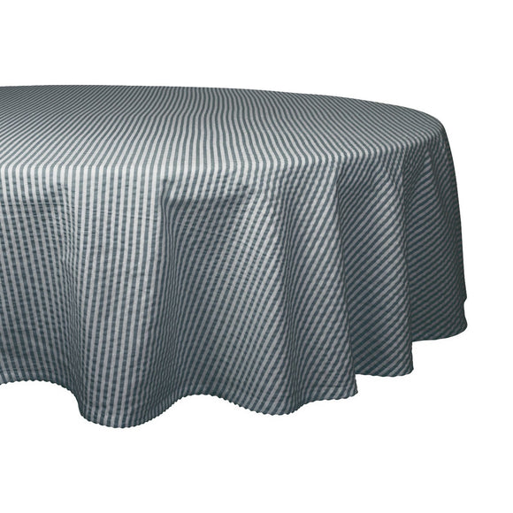 Mineral Seersucker Tablecloth 70