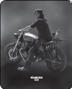 """Daryl On Bike"" Officially Licensed AMC-TWD Image - Queen Size Faux FurTM Blanket"