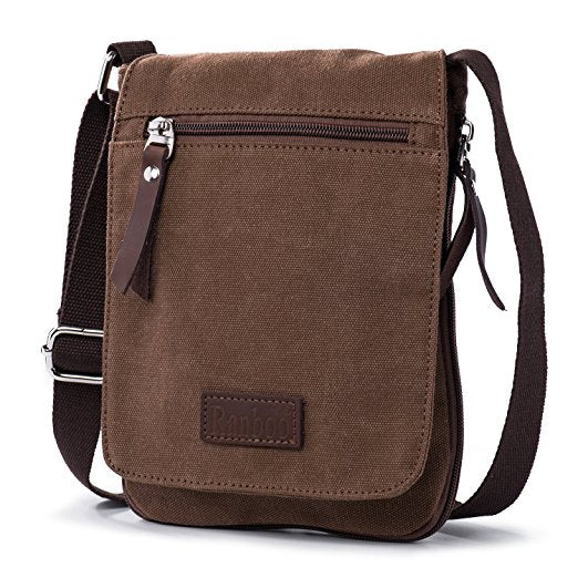 Men's Lightweight Canvas Messenger Bag