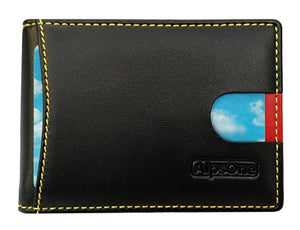 Men's Shielded Slim Leather Wallet With RFID Blocking
