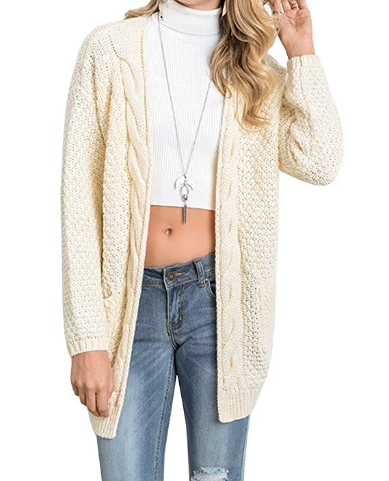 100% Cotton Boyfriend Cardigans With Large Pockets