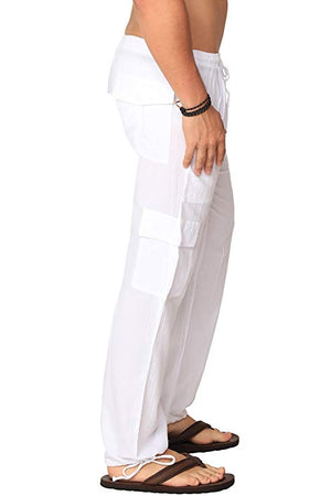 Men's Peruvian Pima Cotton White Cargos
