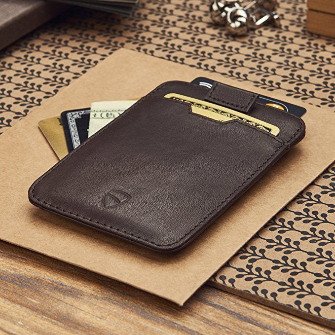 Slim Italian Leather Card Wallet With RFID Protection