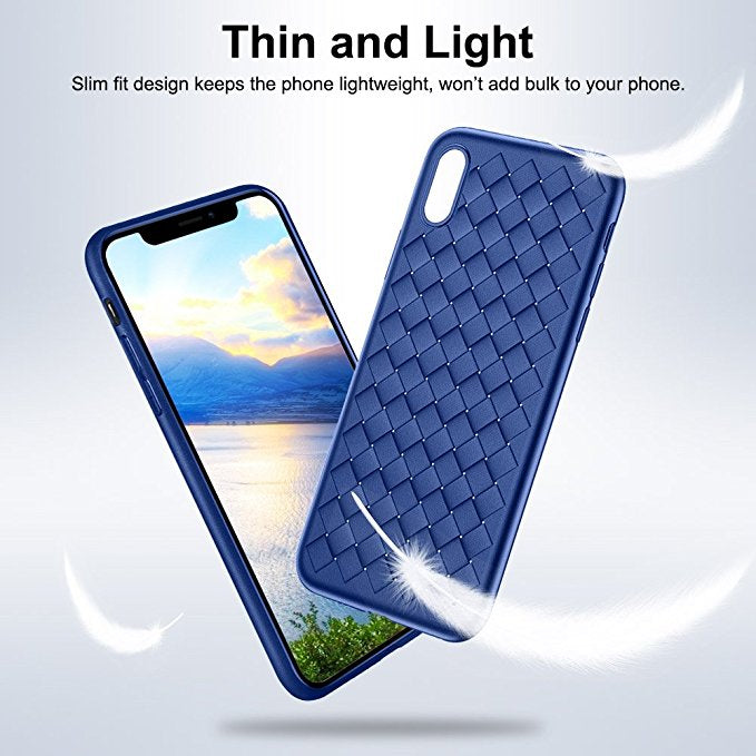 iPhone X Slim Silicone Case W/ Woven Design