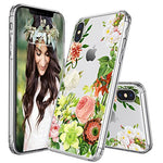 Floral Clear Hard Case Fits iPhone X