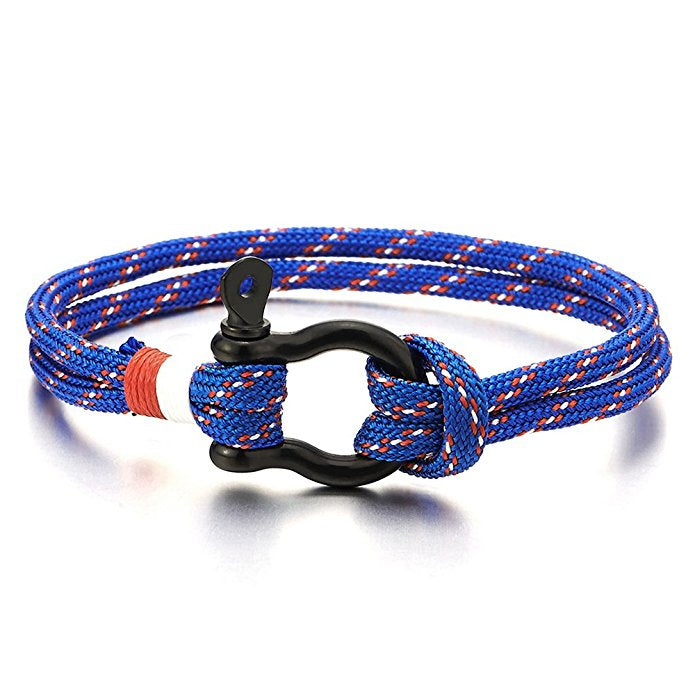 Blue Nautical Shackle Wristband