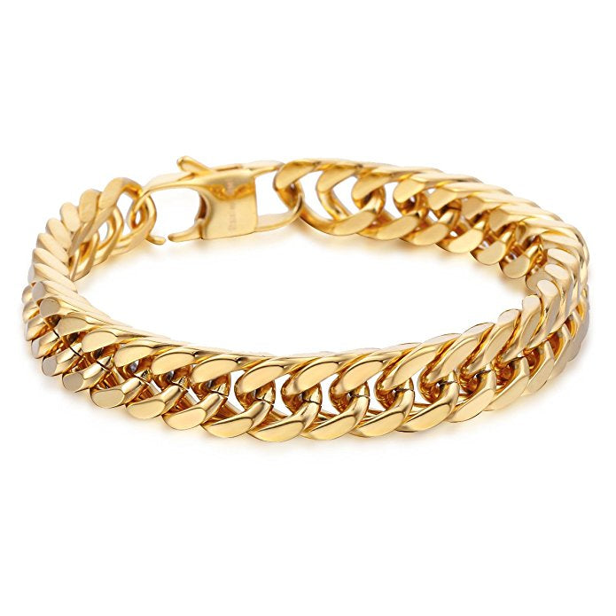 Heavy Men's 9mm Cuban Link Bracelet
