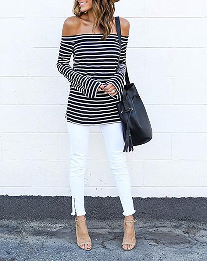 Off The Shoulder Belled Sleeve